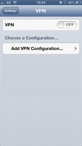 How to set up a VPN on an iPhone: step 3