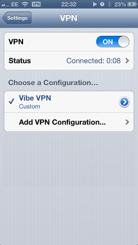How to set up a VPN on an iPhone: step 6