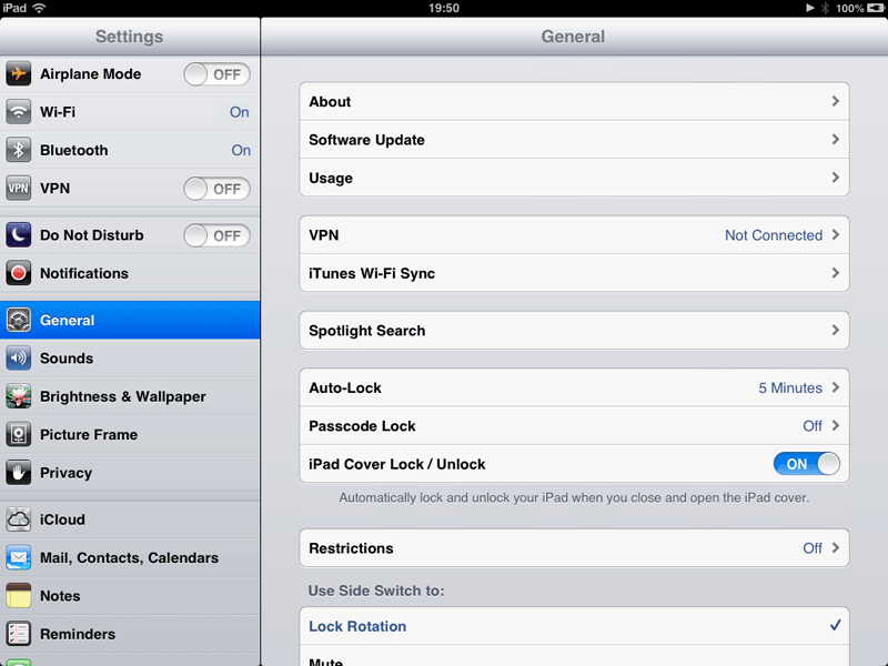 How to set up a VPN on an iPad: step 1