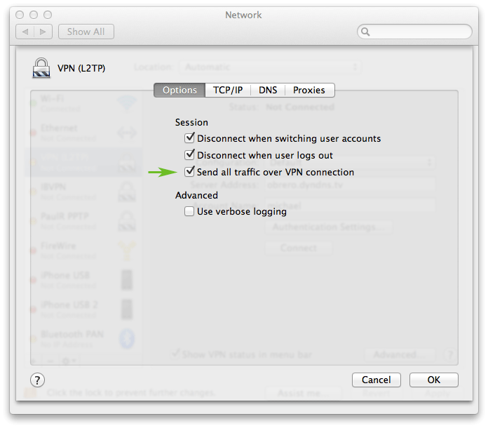 How to set up a VPN on a Mac laptop or desktop: step 6
