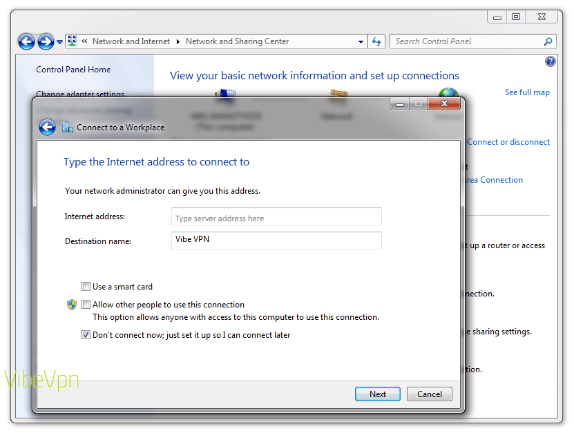 How to set up a VPN on a PC laptop or desktop: step 6